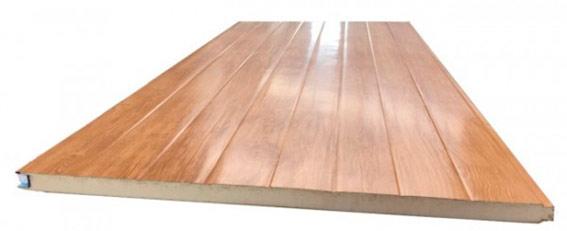 Panel fachada acabado en madera